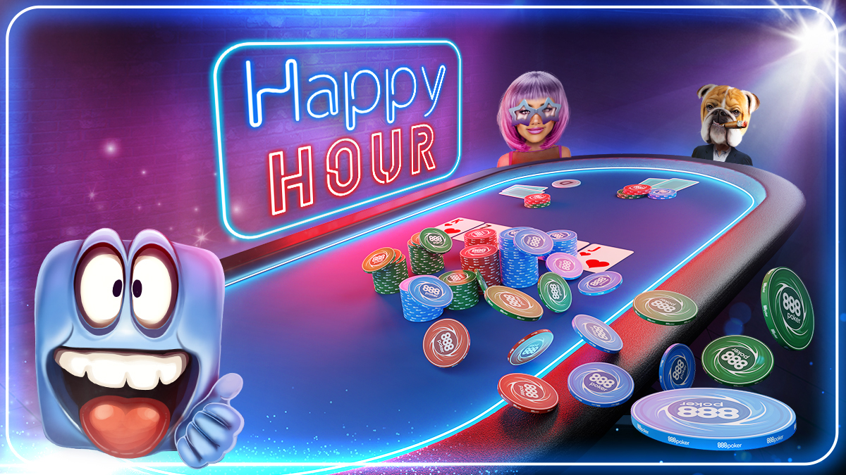 It's Happy Hour Every Day at 888poker!