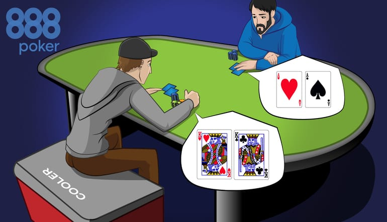 two poker players heads-up