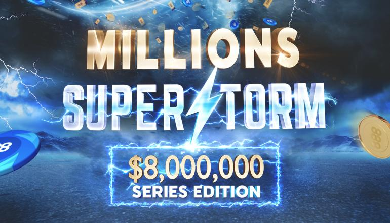 888Millions Superstorm Crowns More than 100 Winners in 10 Days!