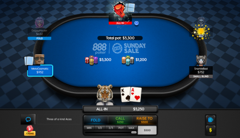 The Sunday Sale Returns to 888poker Made To Play Tables with Up to 50% Off Buy-ins!