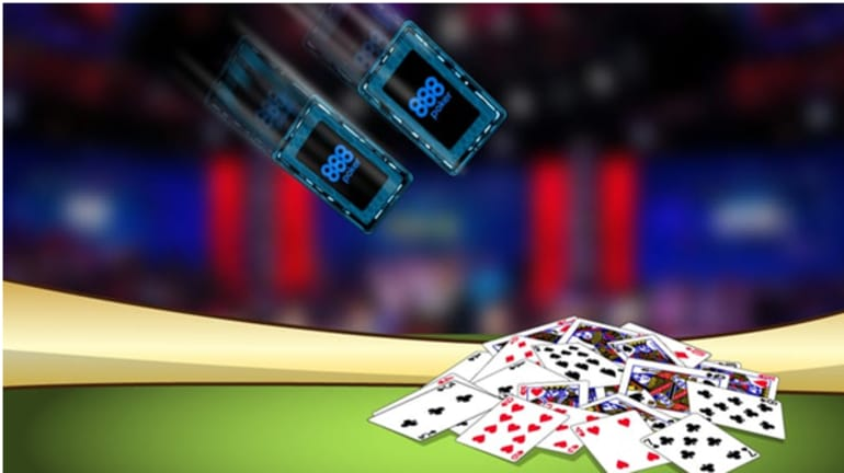 poker player tossing two cards