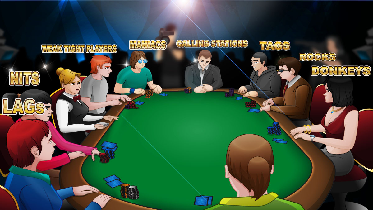 full-ring table in a live poker setting