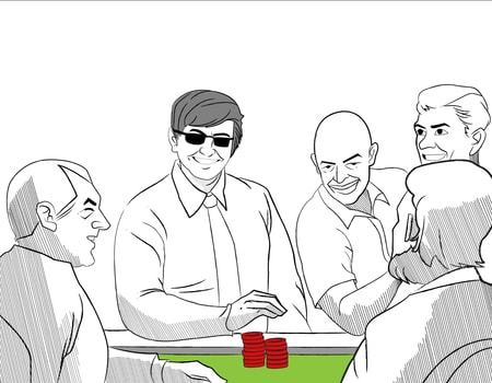 poker players sitting around table